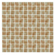 EPOCH Spongez S-Tan-1407 Mosaic Recycled Glass 12 in. x 12 in. Mesh Mounted Floor & Wall Tile (5 sq. ft.)