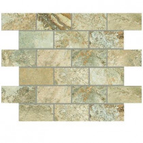 Daltile Folkstone Sandy Beach 12 in. x 12 in. x 8 mm Porcelain Brick-Joint Mosaic Wall Tile
