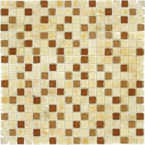 MS International Honey Onyx Ripple 12 in. x 12 in. x 8 mm Glass Stone Mesh-Mounted Mosaic Tile (10 sq. ft. / case)