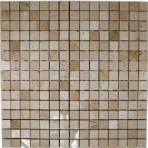 Splashback Tile Crema Marfil Squares 12 in. x 12 in. x 8 mm Marble Floor and Wall Tile