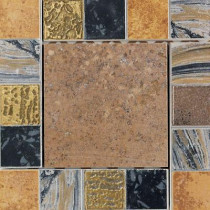 Daltile Terra Antica Bruno 6 in. x 6 in. Porcelain Decorative Insert/Corner Accent Floor and Wall Tile