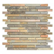 Jeffrey Court Satin Copper 11-1/2 in. x 12 in. x 8 mm Copper Slate Mosaic Wall Tile