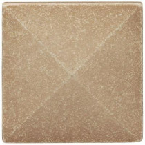 Weybridge 2 in x 2 in. Cast Stone Pyramid Dot Travertine Tile (10 pieces / case) - Discontinued