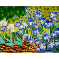 overstockArt Van Gogh, Irises Trivet and Wall Accent 11 in. x 14 in. Tile (felt back)-DISCONTINUED