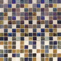 Jeffrey Court Mediterranean Cut-Edge 12 in. x 12 in. x 6 mm Glass Travertine Mosaic Wall Tile