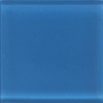 Daltile Glass Reflections 4-1/4 in. x 4-1/4 in. Ultimate Blue Glass Wall Tile (4 sq. ft. / case)-DISCONTINUED