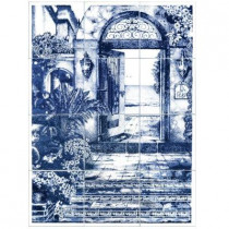 6 in. x 6 in. La Playa Blue Tiles (12-Pieces)-DISCONTINUED