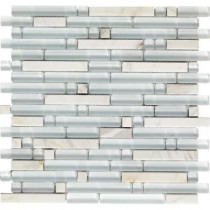 Epoch Architectural Surfaces Varietals Viognier-1653 Stone And Glass Blend Mesh Mounted Floor and Wall Tile - 2 in. x 12 in. Tile Sample