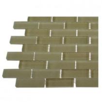 Splashback Tile Contempo Cream 1/2 in. x 2 in. Brick Pattern - 6 in. x 6 in. Tile Sample-DISCONTINUED