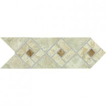 Daltile Heathland Sunrise Blend 4 in. x 12 in. Glazed Ceramic Decorative Accent Floor and Wall Tile