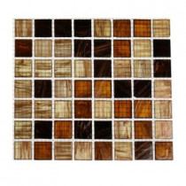 Splashback Tile Lima Bean 3/4 in. x 3/4 in. Glass Tile Sample