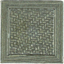 MARAZZI Montagna Nickel 2 in. x 2 in. Metal Resin Basketweave Decorative Floor/Wall Tile