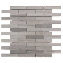 Splashback Tile Athens Grey 12 in. x 12 in. x 8 mm Polished Marble Floor and Wall Tile