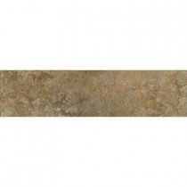 ELIANE Milano Walnut 3 in. x 12 in. Glazed Porcelain Bullnose Floor and Wall Tile