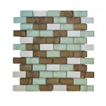 Jeffrey Court Bellagio Pebble Brick 12 in. x 12 in. x 8 mm Glass Marble Mosaic Wall Tile