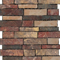 U.S. Ceramic Tile Stratford 12 in. x 12 in. Multi-Color Porcelain Mesh-Mounted Mosaic Tile