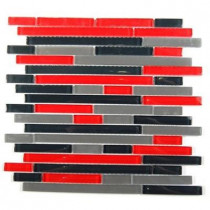 Splashback Tile Temple Explosion 12 in. x 12 in. x 8 mm Glass Mosaic Floor and Wall Tile