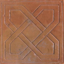 Daltile Saltillo Sealed Antique Adobe 6 in. x 6 in. Pinwheel Decorative Floor and Wall Tile-DISCONTINUED