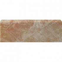U.S. Ceramic Tile Stratford Beige 3 in. x 12 in. Glazed Ceramic Single Bullnose Floor & Wall Tile-DISCONTINUED