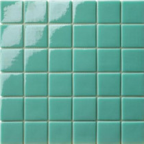 Elementz 12.5 in. x 12.5 in. Capri Tormalina Glossy Glass Tile-DISCONTINUED