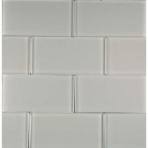 EPOCH Cloudz Stratocumulus-1433 Glass Subway Tile 3 in. x 6 in. (5 Sq. Ft./Case)-DISCONTINUED