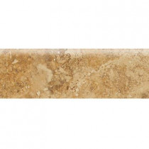 Daltile Heathland Amber 3 in. x 9 in. Glazed Ceramic Bullnose Wall Tile