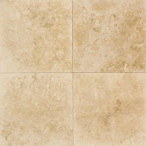 Daltile Travertine Turco Classico 9 in. x 9 in. Natural Stone Floor and Wall Tile (9 sq. ft. / case)-DISCONTINUED