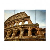 Tile My Style Colosseum 24 in. x 18 in. Tumbled Marble Tiles (3 sq. ft. /case)