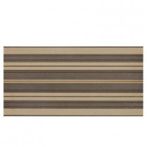 Daltile Identity Gold/Brown Fabric 12 in. x 24 in. Porcelain Decorative Accent Floor and Wall Tile-DISCONTINUED