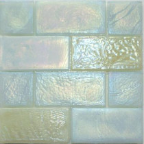Studio E Edgewater Del Mar Glass Mosaic & Wall Tile - 5 in. x 5 in. Tile Sample-DISCONTINUED