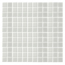 EPOCH Monoz M-White Honed-1404 Mosaic Recycled Glass 12 in. x 12 in. Mesh Mounted Floor & Wall Tile-DISCONTINUED