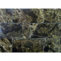 MS International Emperador Cafe 3 in. x 6 in. Polished Marble Floor and Wall Tile (1 sq. ft./case)