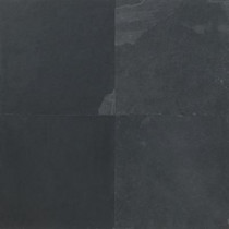 Daltile Natural Stone Collection Brazil Black 16 in. x 16 in. Slate Floor and Wall Tile (10.62 sq. ft. / case)-DISCONTINUED