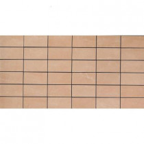 U.S. Ceramic Tile Avila Beige 12 in. x 24 in. x 8 mm Porcelain Mosaic Floor and Wall Tile-DISCONTINUED