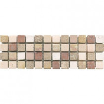 ELIANE Mosaico C-1600 3 in. x 8 in. x 10 mm Natural Stone Mesh-Mounted Mosaic Tile