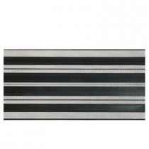 Daltile Identity Black and White 12 in. x 24 in. Porcelain Decorative Accent Floor and Wall Tile-DISCONTINUED