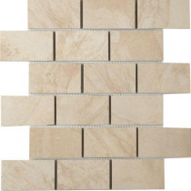 MARAZZI Terra 12 in. x 12 in. Topaz Ice Porcelain Mesh-Mounted Mosaic Tile-DISCONTINUED
