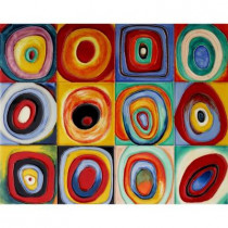 overstockArt Kandinsky, 11 in. x 14 in. Farbstudie Quadrate (Color Study of Squares) Wall Tile-DISCONTINUED