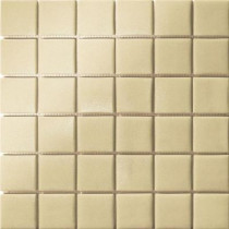 Elementz 12.5 in. x 12.5 in. Capri Crema Grip Glass Tile-DISCONTINUED