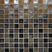 Studio E Edgewater Outer Banks 1 in. x 1 in. 11-3/4 in. x 11-3/4 in. Glass Floor & Wall Mosaic Tile-DISCONTINUED