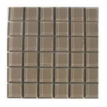 TAFCO PRODUCTS 12 in. x 12 in. x 1/4 in. Thick Squares Light Brown Glass Tile