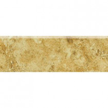 Daltile Heathland Amber 2 in. x 6 in. Glazed Ceramic Bullnose Wall Tile