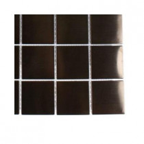 Splashback Tile Metal Rouge Square Stainless Steel Floor and Wall Tile - 6 in. x 6 in. x 11 mm Tile Sample (4 pieces per sq. ft.)