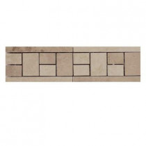 Emser 4 in. x 13 in. Coliseum #20 Glazed Porcelain Floor Listello -Each-DISCONTINUED