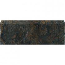 U.S. Ceramic Tile Craterlake Lava 3 in. x 18 in. Glazed Ceramic Single Bullnose Tile-DISCONTINUED