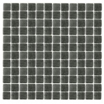 Epoch Architectural Surfaces Spongez S-Black-1412 Mosiac Recycled Glass Mesh Mounted Floor and Wall Tile - 3 in. x 3 in. Tile Sample