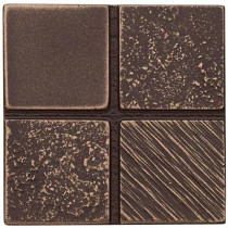 Weybridge 2 in. x 2 in. Cast Metal Mosaic Dot Classic Bronze Tile (10 pieces / case) - Discontinued