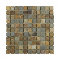 Jeffrey Court Slate 12 in. x 12 in. x 8 mm Mosaic Floor/Wall Tile