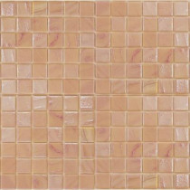 Epoch Architectural Surfaces Gemstonez Rose Quartz-1302 Mosiac Recycled Glass Mesh Mounted Floor and Wall Tile - 3 in. x 3 in. Tile Sample