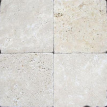 MS International Chiaro 6 in. x 6 in. Tumbled Travertine Floor and Wall Tile (1 sq. ft. / case)